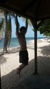 Pull-ups at the beach